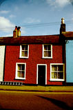 Beautiful and colourful Irish old house in Dublin Stock Images