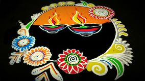 Beautiful colourful Rangoli. Indian tradition in Festival royalty free stock images