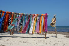 Beautiful colourful scarfes Stock Images