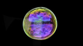 Beautiful Colourful Soap Bubble Royalty Free Stock Image