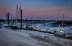 Burnham on Sea Harbour at sun set. royalty free stock photo