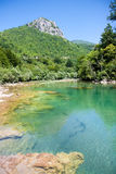 Beautiful colourof  Neretva river in Bosnian Royalty Free Stock Photography