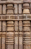 Beautiful columnar design on the wall, Sun temple Stock Photo
