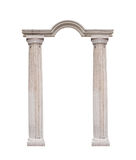 Beautiful columns in classical style isolated on white background.  Royalty Free Stock Image