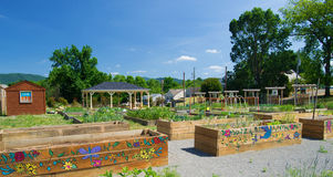 Beautiful Community Garden. Roanoke, VA – May 31: Mountain View Community Garden in Roanoke, VA on the 31st of May 2015 stock photography