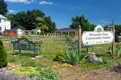 Beautiful Community Garden. Roanoke, VA – May 24: Mountain View Community Garden in Roanoke, VA on the 24th of May 2015 royalty free stock photo