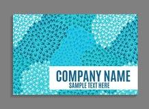 Beautiful Company名片模板 也corel凹道例证向量 库存图片