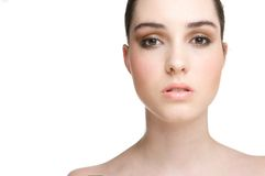 Beautiful complexion Stock Images