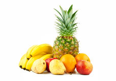 Beautiful composition of fruit fresh fruits. Royalty Free Stock Photos