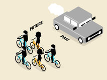 Beautiful concept design of future transportation which no pollution and zero carbon Stock Photo