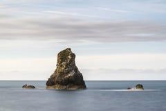 Beautiful conceptual long exposure peaceful landscape of rocks i Royalty Free Stock Photos