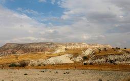 Beautiful cone mountain in Cappadocia Turkey Stock Images