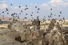 Beautiful cone rock in Cappadocia Turkey Royalty Free Stock Photos
