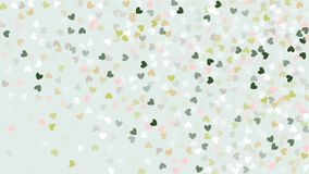 Beautiful Confetti Hearts Falling on Background. Invitation Template Background Design, Greeting Card, Poster. Valentine Day Royalty Free Stock Photo