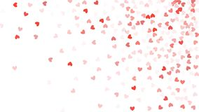 Beautiful Confetti Hearts Falling on Background. Invitation Template Background Design, Greeting Card, Poster. Valentine Day Royalty Free Stock Photos