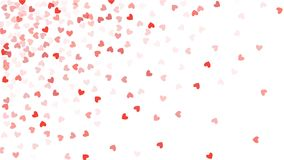 Beautiful Confetti Hearts Falling on Background. Invitation Template Background Design, Greeting Card, Poster. Valentine Day Stock Photos