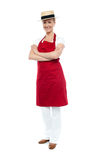 Beautiful confident chef posing in style Royalty Free Stock Images