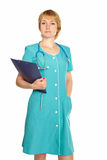 Beautiful confident doctor Royalty Free Stock Image