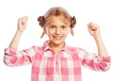 Beautiful and confident girl showing thumbs up Royalty Free Stock Photos