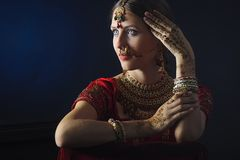 Hindu bride ready for marriage royalty free stock photography