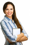 Beautiful, confident and smiling business woman Royalty Free Stock Photos