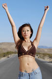 Beautiful confident woman Stock Photos