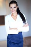 Beautiful confident woman with a charming smile Royalty Free Stock Image
