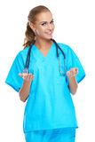Beautiful confident woman doctor Royalty Free Stock Image