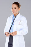 Beautiful confident woman doctor Stock Photo