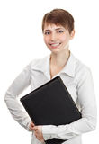 Beautiful confident woman with a folder Royalty Free Stock Photos