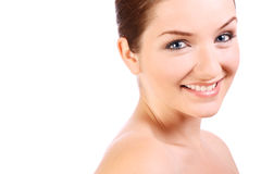 Beautiful confident woman smiling at the camera Stock Photos