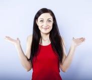 Beautiful confused girl Stock Photo