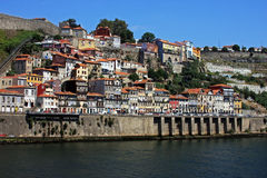Beautiful constructions on the Porto river side Stock Photography
