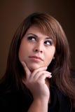 Beautiful Contemplative Woman Royalty Free Stock Photos