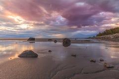 Beautiful Cook Inlet Alaska at Sunset. A beautiful sunset at low tide along cook inlet Alaska Royalty Free Stock Image