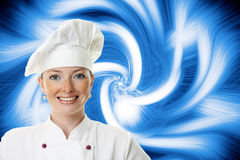 Beautiful cook woman Stock Photography