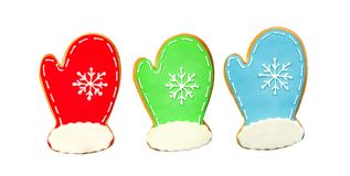 Sweet Christmas cookies. Beautiful cookies for Christmas isolated on a white background Stock Photos