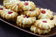 Beautiful cookies with jam Royalty Free Stock Photography
