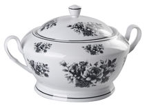 Beautiful cooking pot on the white background. Royalty Free Stock Photography