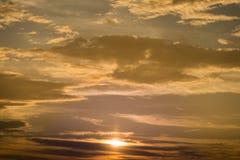 Beautiful cooper color  sunset sky Royalty Free Stock Photos
