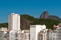 Beautiful Copacabana Beach on a Sunny Day. Panoramic view of Copacabana beach on a Sunny Summer Day in Rio de Janeiro, Brazil Stock Images