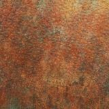Beautiful Copper Plate. Dented and Tarnished Copper Multi-Colored Surface Royalty Free Stock Photos
