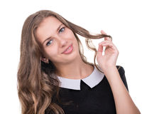 Beautiful coquette young woman Royalty Free Stock Photo