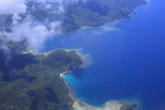 Beautiful Coral reefs coastline in Solomon Stock Image