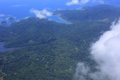 Beautiful Coral reefs coastline in Solomon Royalty Free Stock Photo