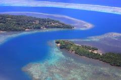 Beautiful Coral reefs coastline in Solomon Stock Photos