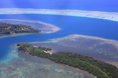Beautiful Coral reefs coastline in Solomon Stock Photo