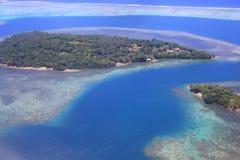 Beautiful Coral reefs coastline in Solomon Royalty Free Stock Photos