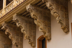 Beautiful corbels in Salina Palace located in Salamanca Stock Image