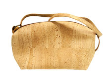 Beautiful Cork Handbag Royalty Free Stock Photography